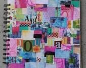 Mixed Paper Art Journal -Grafiti Patchwork-