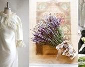 Thinkin' Jane Austen ... Wedding Gown and Regency Lavender Bridal Bouquet