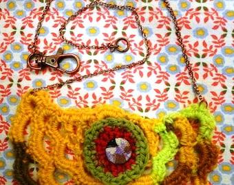 Pixelated Bib Necklace