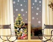 Christmas Snowflakes wall art sticker decoration