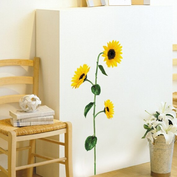 Sunflower wall art vinyl