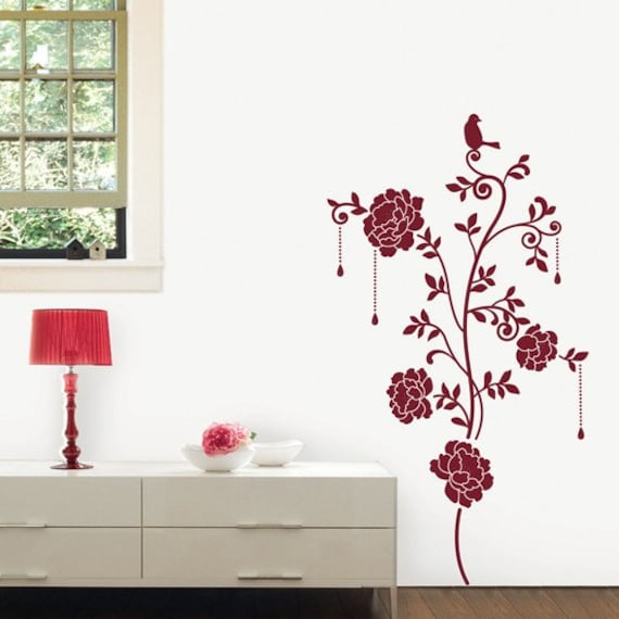 velvet flower wall sticker red velvet photo frame velvet amp jewellery wall stickers pink
