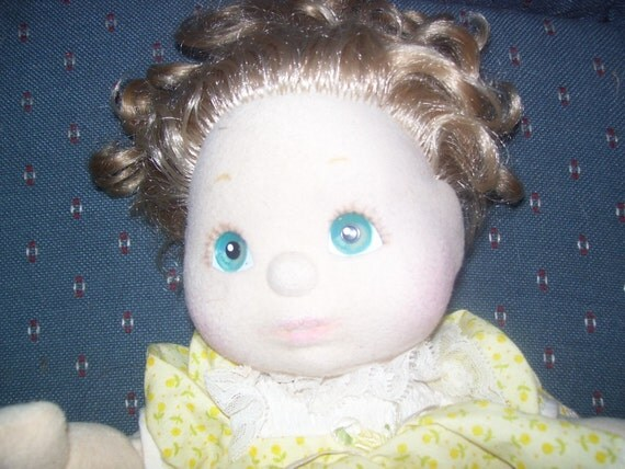 My Child Doll -  Blonde Curls Blue Eyes With Outfit 1985