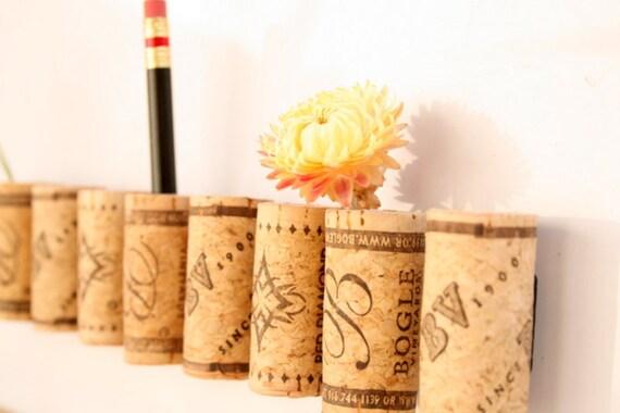 Wine Cork Magnets DIY Set of 9