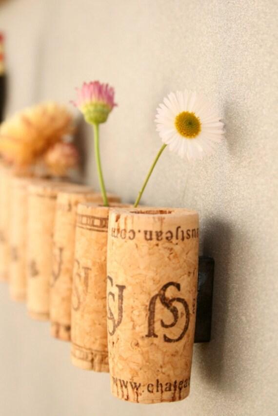 Wine Cork Magnets DIY Set of 12