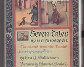 Seven Tales by H. C. Andersen, illustrated by Maurice Sendak, Translated from the Danish by Eva Le Gallienne, Vintage Hardcover Book, 1959