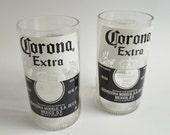 Beer Bottle Drinking Glasses Corona Extra Tumblers Set of 2