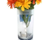 Three Olives Vodka Drink Glass Candle Holder Vase Container