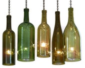 Wine Bottle Candle Holder Hurricane Lantern Hanging Gold 1.5 Liter