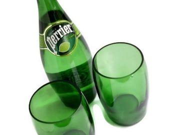 Large Perrier Mineral Water Glasses Tumblers