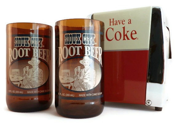 Sioux City Root Beer Tumbler Drinking Glasses Set of 2