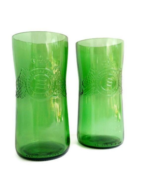 Baltika Russian Beer Bottle Tumblers Drinking Glasses Set of 2