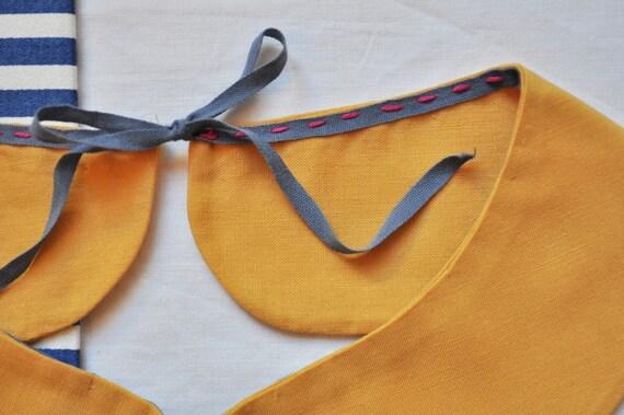 Yellow Peter Pan Collar
