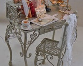 Ladies Filled Writing Desk and matching chair