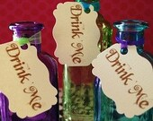 Alice in Wonderland - Mad Hatter Tea Party - Drink Me Tags - 10