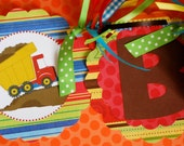 Dump Truck Happy Birthday Banner - Personalization Available