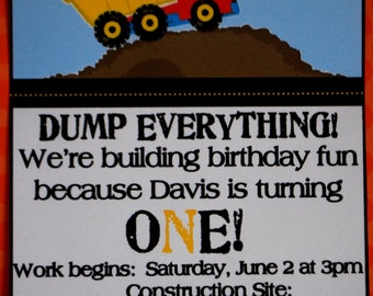 Dump Truck Party Pack - Complete Party In A Box