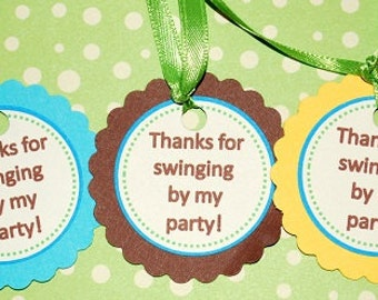 Monkey Favor Tags - Two Options - Coordinate with Monkey Party Decor