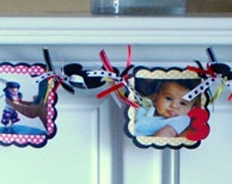 DIY KIT - Mickey and/or Minnie Photo Banner  - Month of Life Banner - Custom Themes Available