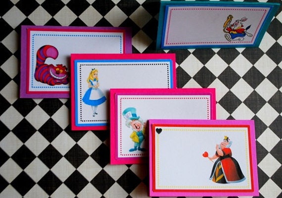 Alice In Wonderland Mad Hatter Tea Party Place Cards