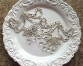 Beautiful Rhinestone Chandelier Motif Appliques - Set of 2