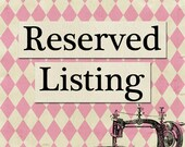 Reserved Listing for thinkkookie