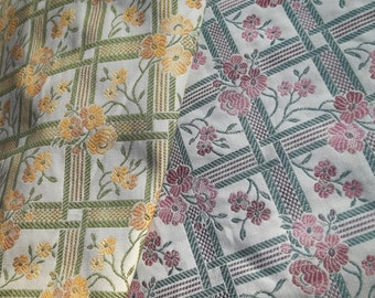 Overstock Sale - Sumptious Italian Made Floral Jacquard Fabic - In Your Choice of 2 Colors