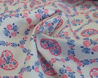 Hearts A Flutter Vintage Cotton Fabric