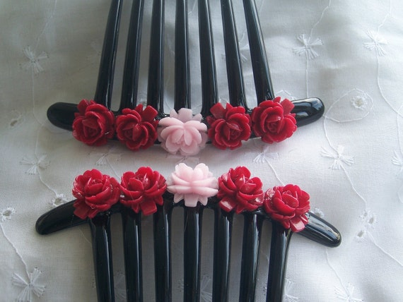 Now 25% OFF:  Huge floral French twist claw comb