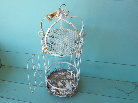 Vintage Metal Birdcage Shabby Chic Rusty And Ornate