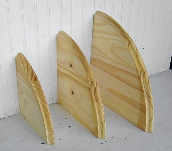 diy project wooden corner shelf three tiers