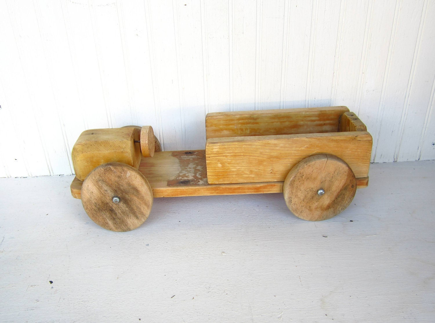 Vintage Wooden Handmade Toy Truck Primitive by thejunkman on Etsy