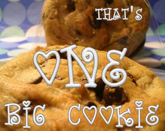 The Best Chocolate Chip Cookie EVER - GIANT Size - One BIG Cookie