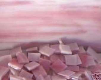 500 PINK Opal Mosaic Stained Glass Tiles