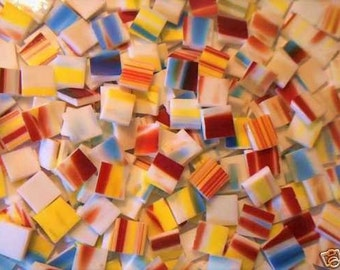500 Rainbow  Mosaic Stained glass tiles 1/2 inch
