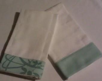Pale Aqua Organic Burp Cloths