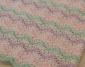 Pastel Waves Baby Blanket