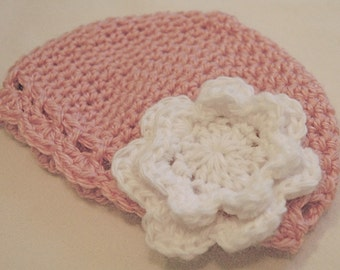 Pastel Baby Cloche with Flower
