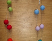 Multicolour Felt Beads Necklace