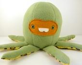 Malachi the plush octopus ooak olive fleece
