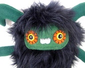 ADOPT-A-PLUSH Forest the plush monster black and green stuffed animal