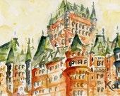 Quebec City Series. Château Frontenac.