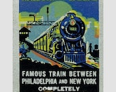 Reading Railroad Matchbook Print Train and Black Americana, Print of Railroad  History. Great Gift for Railroad Enthusiasts!