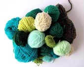 A bag of green wool