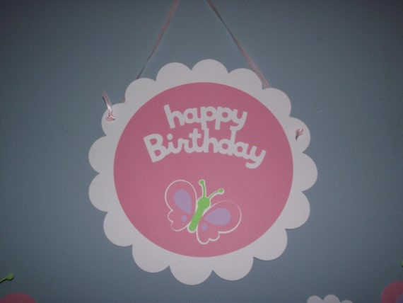 Items Similar To Happy Birthday Door Sign Or Wall Hanging