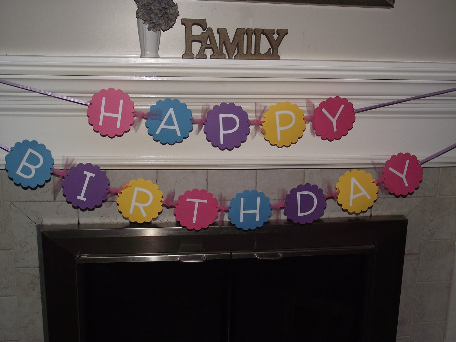 Happy Birthday Banner Wall Hanging Ready To Ship
