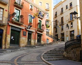 Winding Street in Tarragona City, Spain 20x30 photo