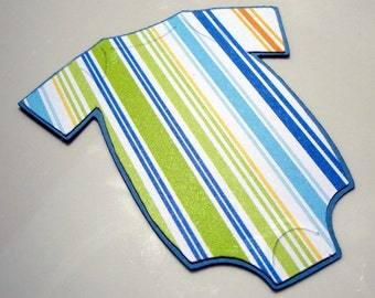 Onesie Die Cuts Striped Boy (set of 20)