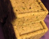Tea Party Exfoliating Bar Soap with Tea Tree Oil and Green Tea Hand Milled Soap