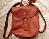 Coach leather backpack bag satchel vintage brown Tan day